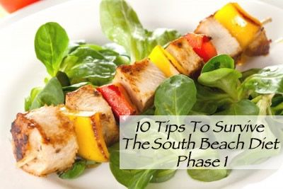 10 tips for surviving the South Beach Diet Phase 1!  You CAN do it!!