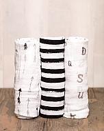 Paquet+de+3+Couvertures+en+Mousseline+de+Coton+de+Little+Unicorn/Little+Unicorn+Cotton+Muslin+Swaddle+3+Pack,+Black+&+White
