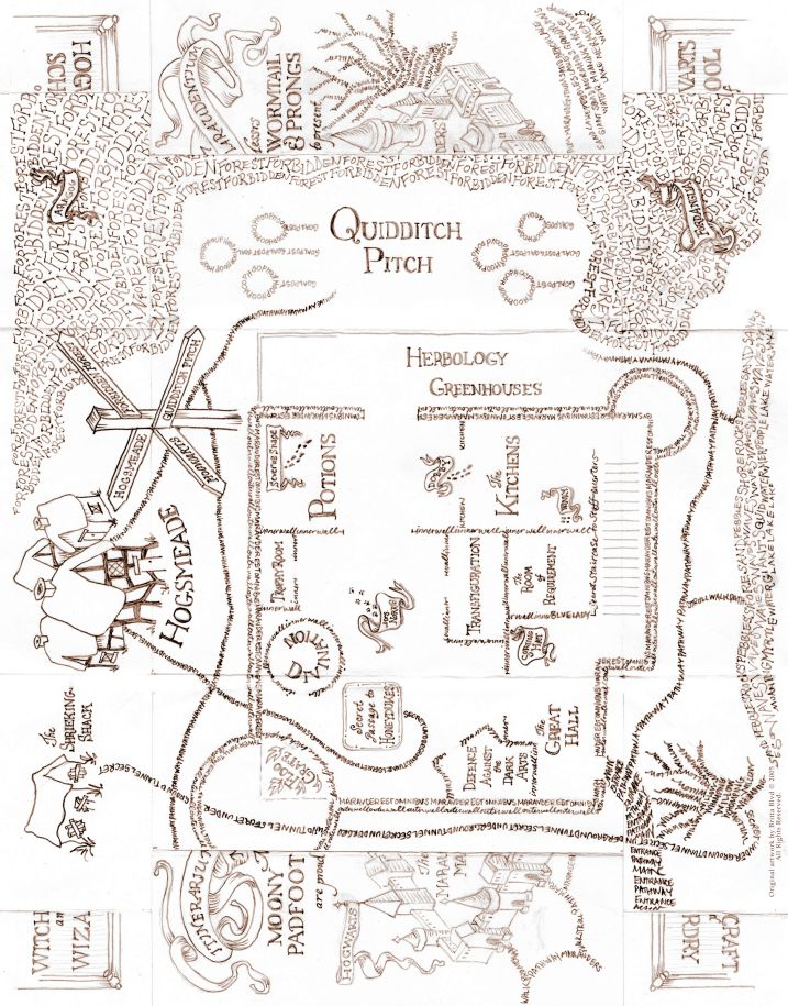 Stupendous image within marauders map printable pdf