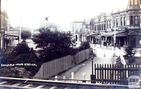 Caulfield from the railway station (year unknown).