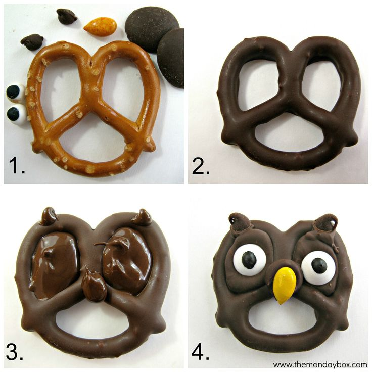 Halloween Pretzels- easy, fast and fun tutorial for 5 chocolate dipped treats! These Halloween cuties can be created in no time and are guaranteed to spread smiles. The Monday Box