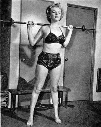 Marilyn lifting weights