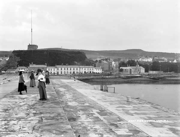 "East Pier, Howth, Co. Dublin by French, Robert, 1841-1917 photographer Published / Created: [between ca. 1865-1914]. In collection: The Lawrence Photograph Collection ""...East Pier. Howth. 1223. W. L...."""