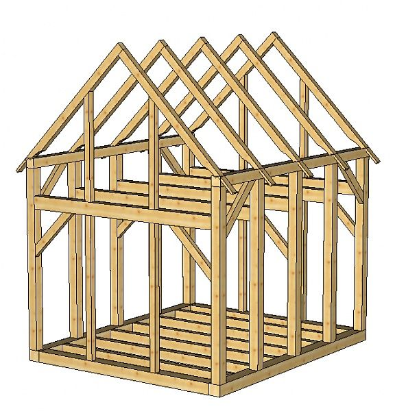 Small timber frame house plans small timberframe shed for Small timber frame house plans