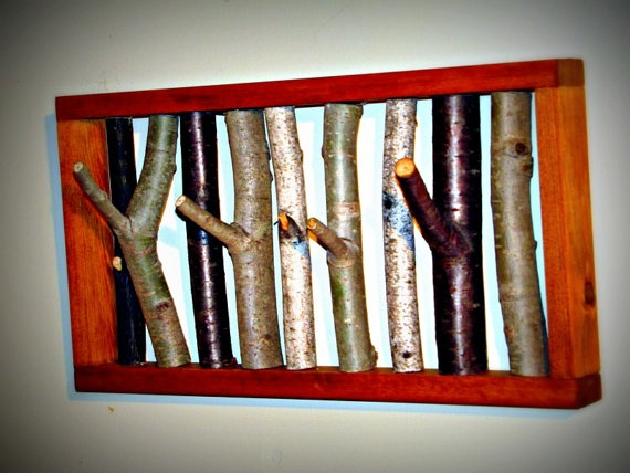 Rustic Tree Branch Coat Rack by naturallycre8tive on Etsy,