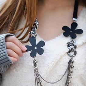 Böhmen Multilayer Perlen Blumen Pullover Kette Halskette