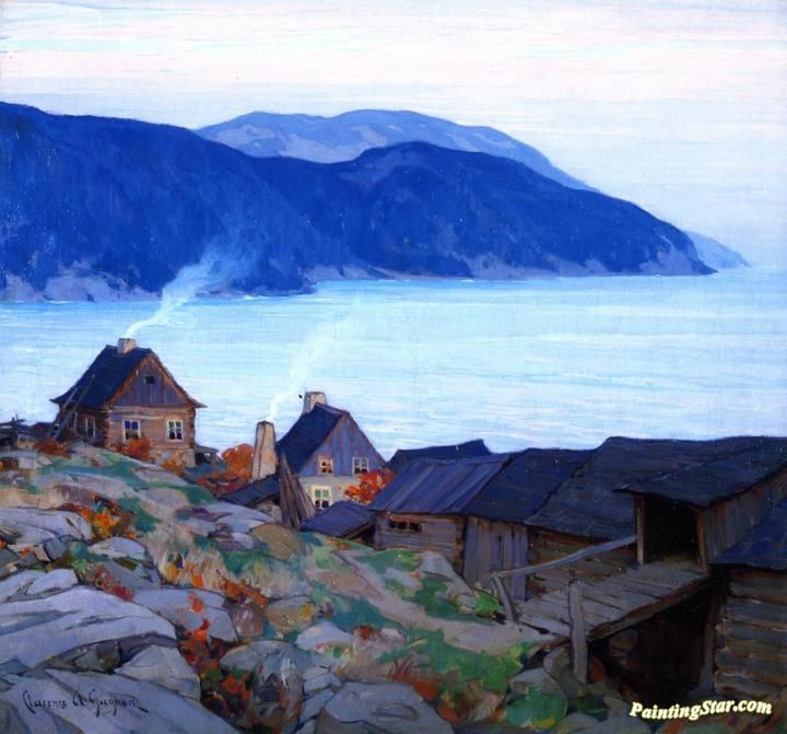 Evening On The North Shore Artwork by Clarence Gagnon Hand-painted and Art Prints on canvas for sale,you can custom the size and frame