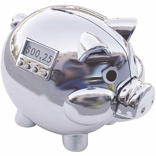 Pig E Bank is a digital interpretation of a modern piggy bank