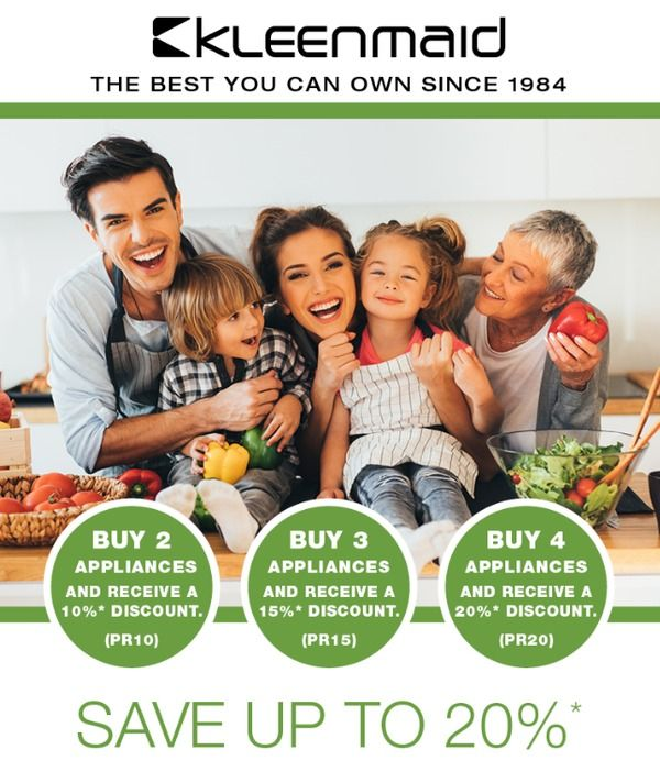 Kleenmaid BIG SAVINGS on NEW European Kitchen Appliances with a 3-Year warranty During MARCH 2017*