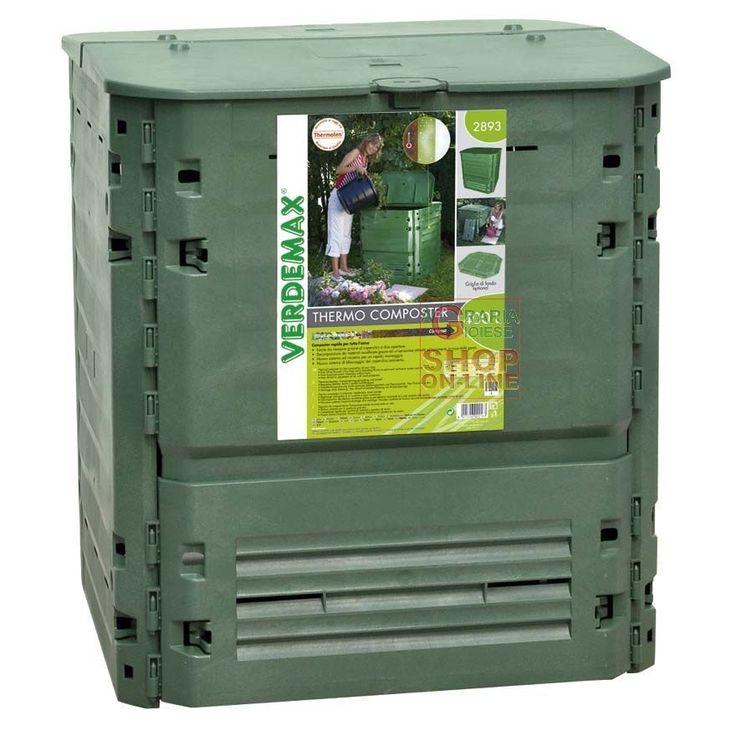 VERDEMAX COMPOSTIERA COMPOSTER CONTENITORE PER COMPOSTAGGIO THERMO-KING LT. 400 http://www.decariashop.it/compostiere/17974-verdemax-compostiera-composter-contenitore-per-compostaggio-thermo-king-lt-400.html