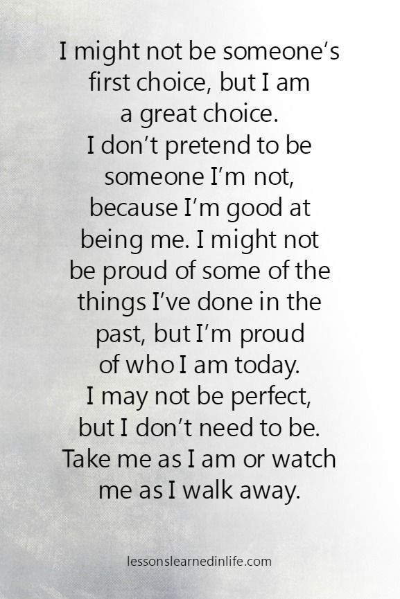 Lessons Learned in Life | I'm proud of who I am today.