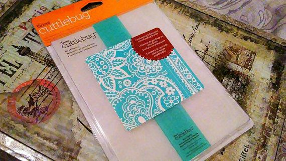 Cricut Cuttlebug Embossing Folder with Border  ~Bit of Paisley~
