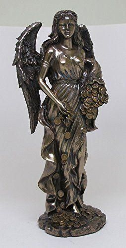 11.5 Inch Goddess Fortuna Roman Mythology Resin Statue Figurine