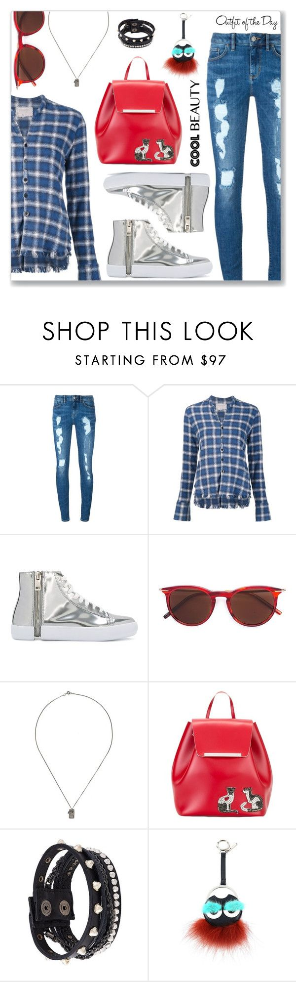 """""""Outfit of the Day"""" by dressedbyrose ❤ liked on Polyvore featuring Tommy Hilfiger, Greg Lauren, Diesel, Tomas Maier, Ros Millar, N°21, Fendi and Petit Bateau"""