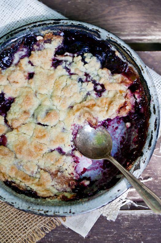 blackberry cobbler (gluten free) from Tartelette