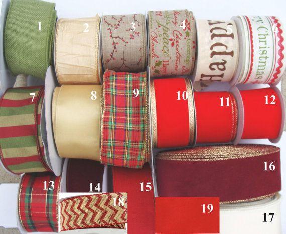 2.5 pouces filaire noeud Noël créateur pour couronne, ajouter un arc, arcs de toile de jute, rubans de Noël, arcs de vacances, porte Couronne arc