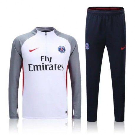 Survetement PSG 2016-2017 Gris Blanc