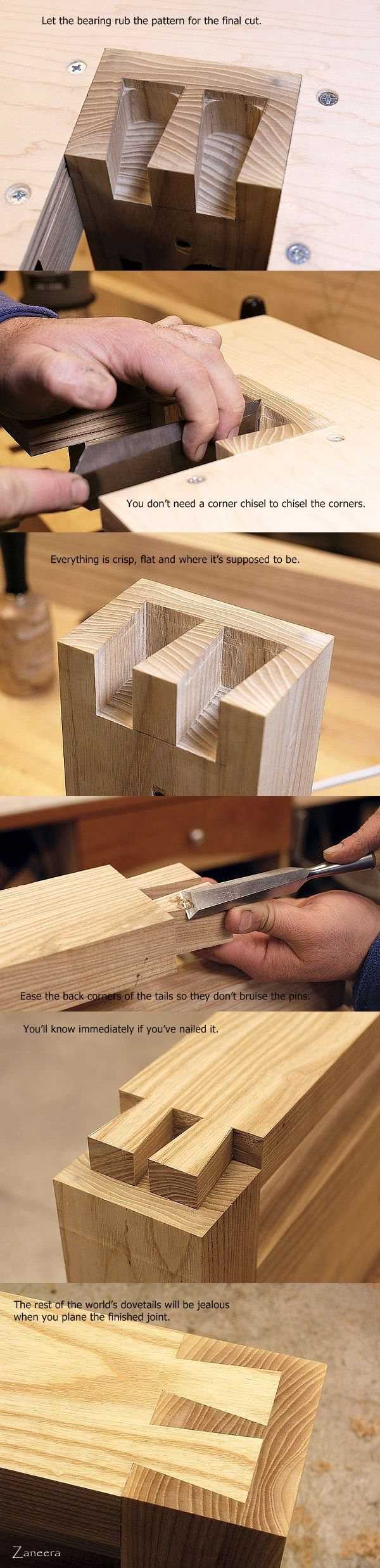 Dovetails Step by Step. Part 4 : Finishing. - My Saws And Jigs