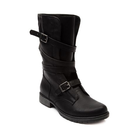 Shop for Womens Madden Girl Crash Boot in Black at Journeys Shoes. Shop today for the hottest brands in mens shoes and womens shoes at Journeys.com.Sassy new combat boot from Madden Girl, the Crash boot features smooth faux leather upper, wrap around buckle adjustment strap for a snug, comfy fit, and rubber outsole for durable grip and protection.
