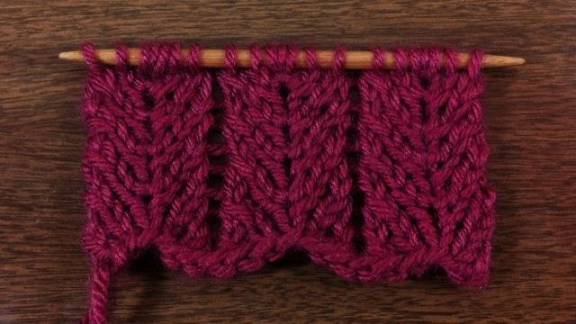 Chevron Lace Stitch!