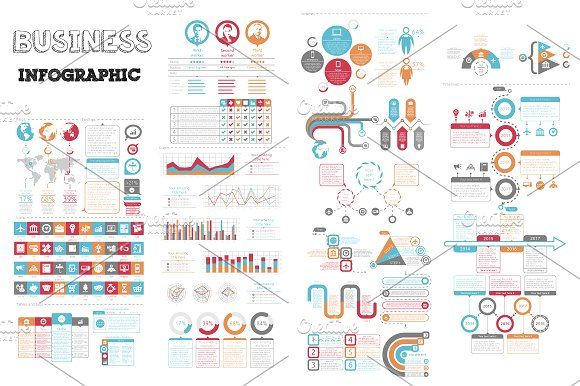@newkoko2020 Business Infographic by Infographic Paradise on @creativemarket #infographic #infographics #bundle #design #template #megabundle #bigbundle #presentation #vector #business #layout #creative #graph #information #visualization