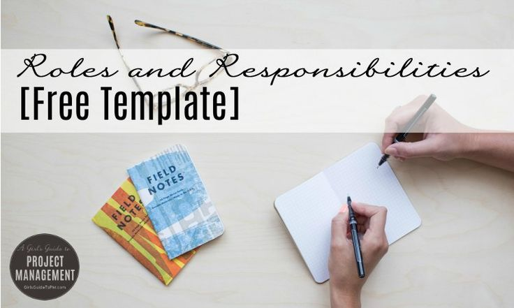 Roles and Responsibilities [Free Template] by Elizabeth Harrin http://www.girlsguidetopm.com/2016/02/roles-and-responsibilities-free-template/  #pmot