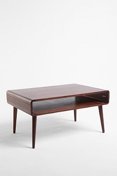 Danish Modern Coffee Table...would also make perfect TV table (with storage underneath for players, etc.)