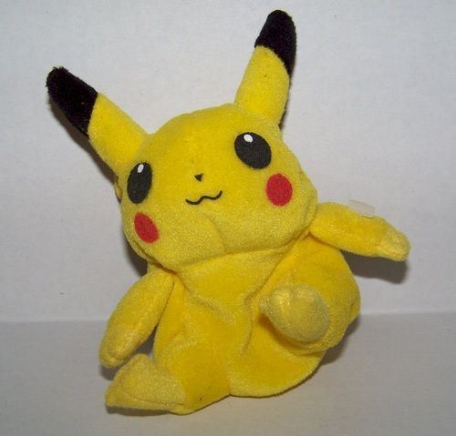 Pokemon Beanie Treat Keeper Plush  Pikachu About 6 inches tall Hasbro 1999