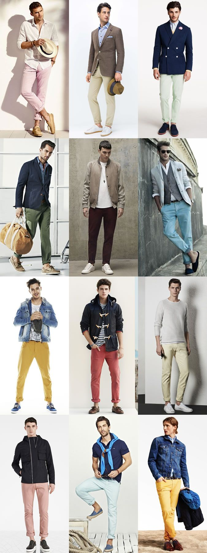 2015 Spring/Summer Men's Chinos Guide: Pastels Colours Lookbook Inspiration