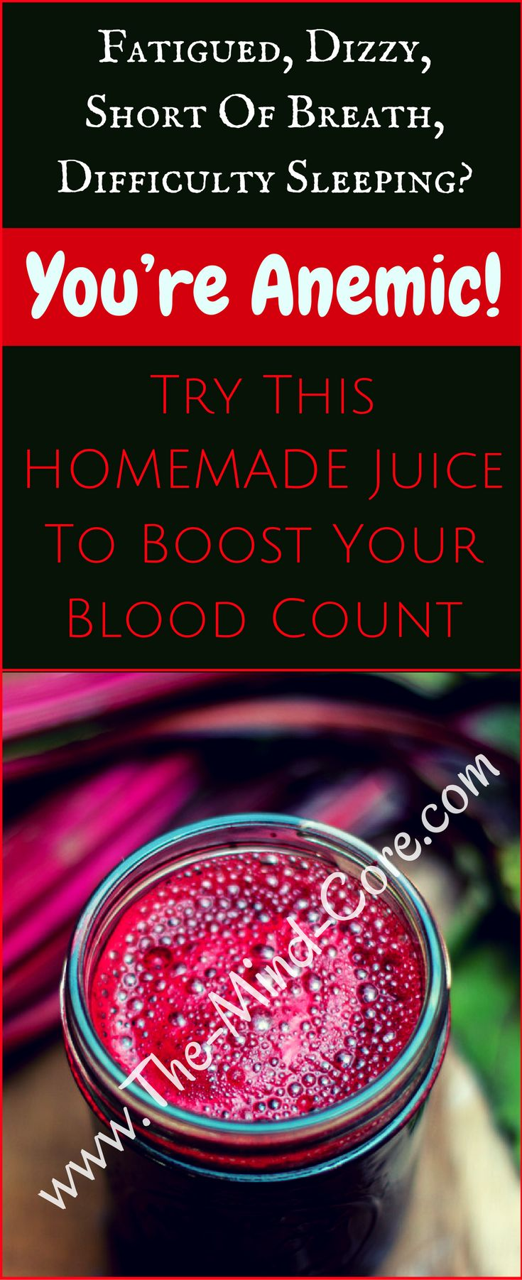 Feeling Fatigued, Dizzy, Short of Breath, Difficulty Sleeping? You're ANEMIC! Drink This Juice Every Day Boost Your Blood Count!