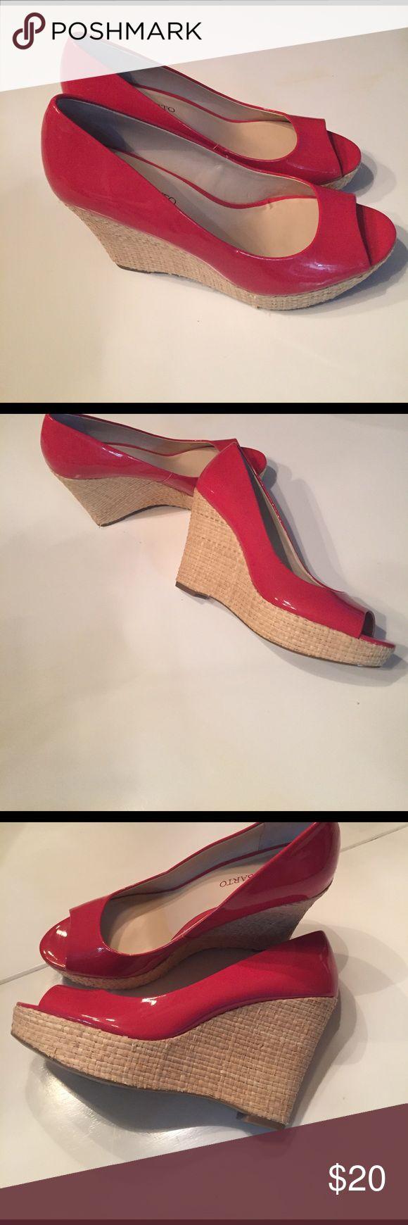 Franco Sarto peep toe wedge pump Franco Sarto Women's Surf Wedge Pump size 9.5 US Franco Sarto Shoes Wedges