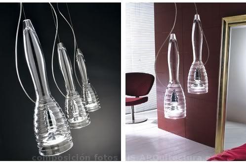 Lámparas Modernas de cristal de murano