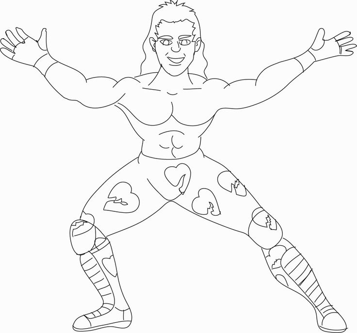 Wwe Wrestling Coloring Pages Coloring Pages Pinterest