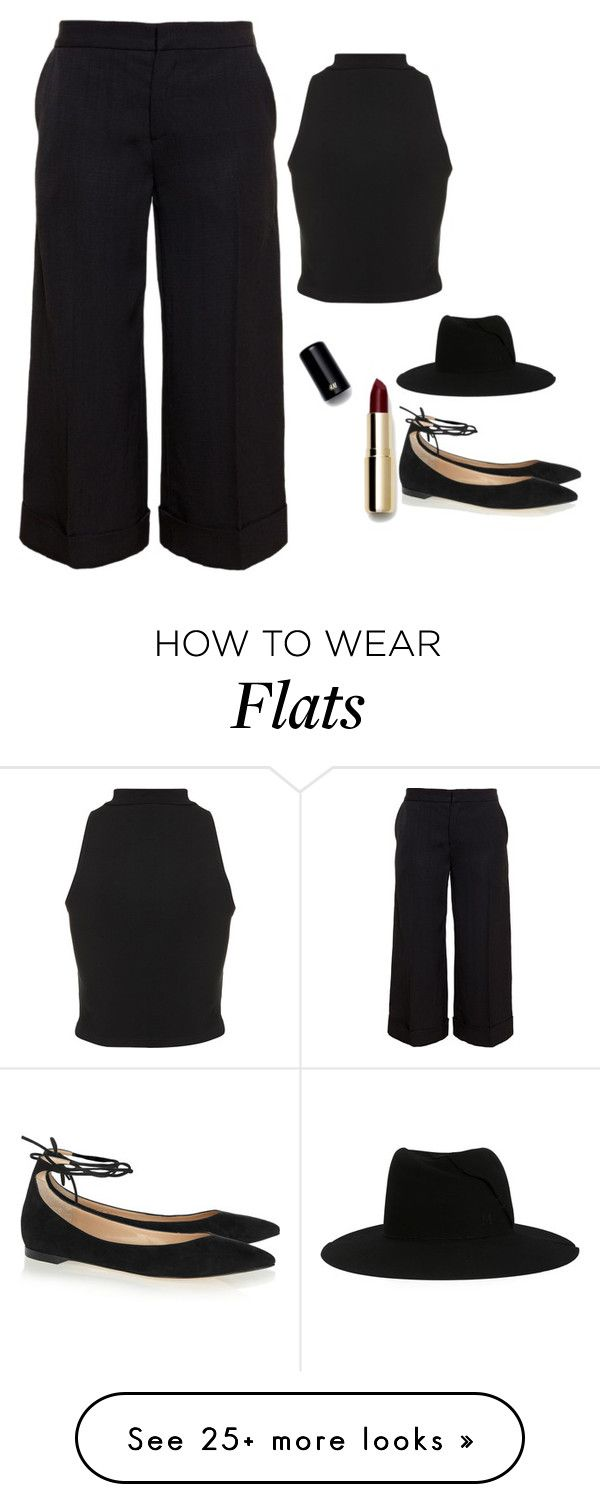 """""""Untitled #4161"""" by adi-pollak on Polyvore featuring Maison Michel, Marni, Gianvito Rossi, H&M and Topshop"""