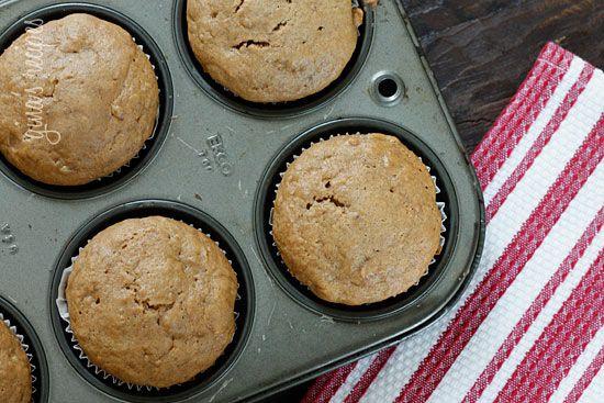 Low Fat Peanut Butter Banana Muffins | Skinnytaste
