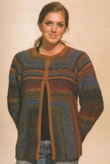 """Modular Garter-Stitch Jacket"" Designed by Doreen L. Marquart. Knit with ""Silk Garden"" & ""Cash Iroha"" from Noro Yarns."