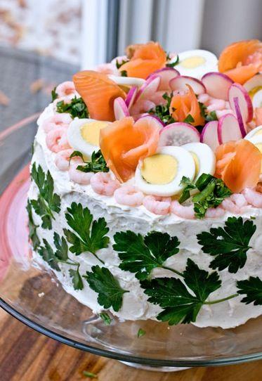 Smörgåstårta Recipe (Sandwich Layer Cake)