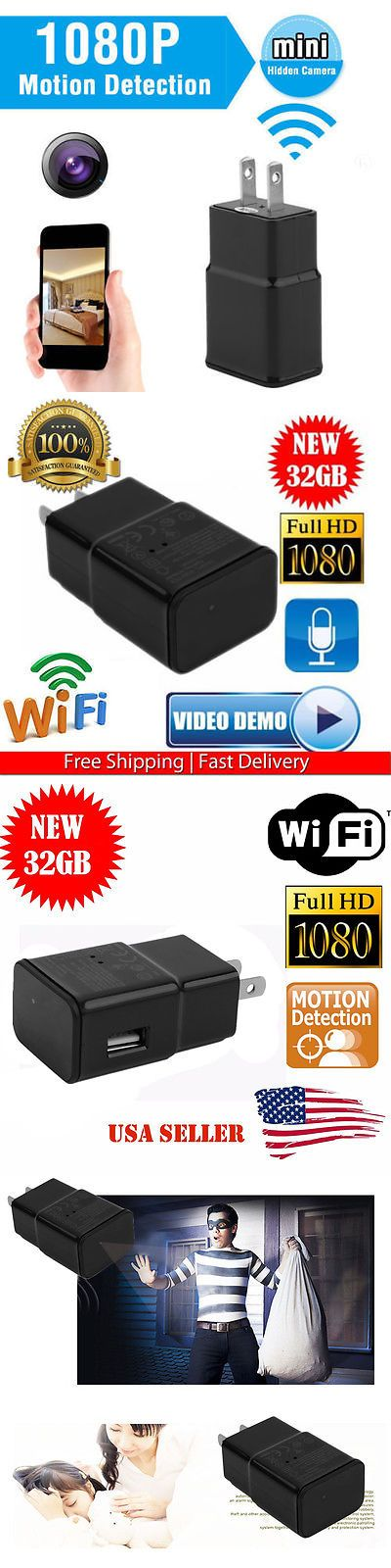 Digital Video Recorders Cards: 1080P Full Hd Adapter Spy Mini Video Recorder Dvr Hidden Camera 32G Wifi Usa Hmx BUY IT NOW ONLY: $57.95
