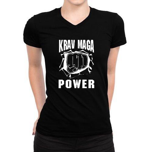 Krav Maga Power Women V-Neck T-Shirt