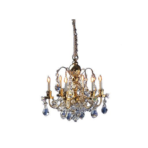 6 arm crystal chandelier by cir kit concepts