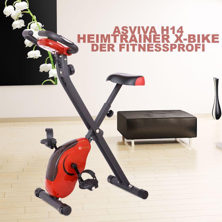 AsVIVA Heimtrainer X-Bike H14 Red - Die extrem ergonomische und kompakte Bauweise des X-Bike bietet alles was ein professionelles Training benötigt. Gerade das Antriebssystem, der Permanentmagnet und die Sensoren sind ganz klar hervor zu heben.