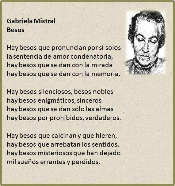 Besos. Gabriela Mistral.