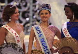 Miss Philippines, Megan Young, was crowned Miss World on Saturday amid tight security on Indonesia's resort island of Bali, where the contest's final round was moved following protests by Muslim hardliner groups.