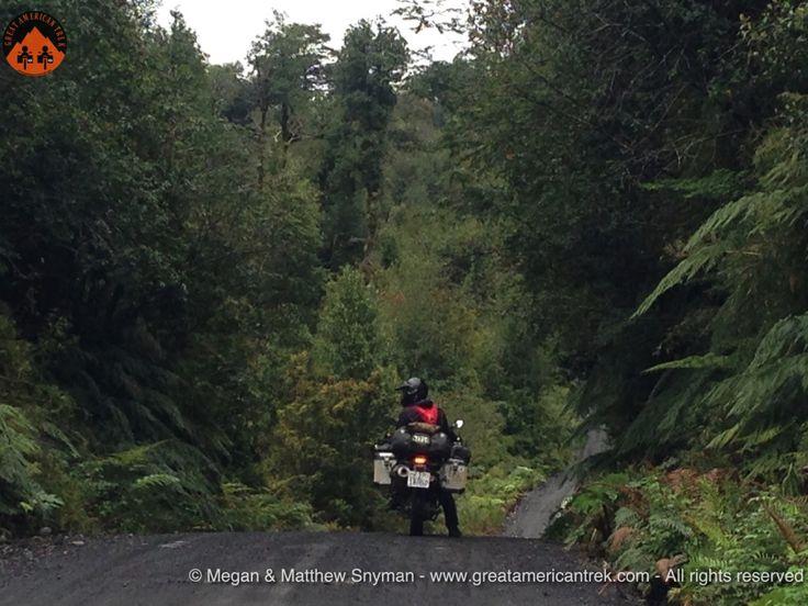 Chaiten, carretera austral, chile, adventure riding, forest, matthew snyman, great american trek, adventure, motorcycle, travel, jungle, dualsport, offroad