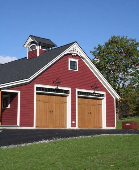 68 best farmhouse style images on pinterest country for Farmhouse garage doors