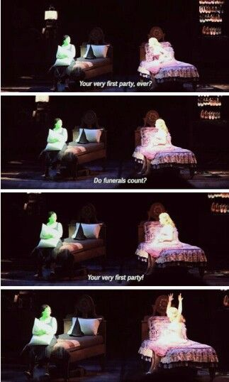 Not sure if this is Idina, but it's still Wicked and a pretty funny part