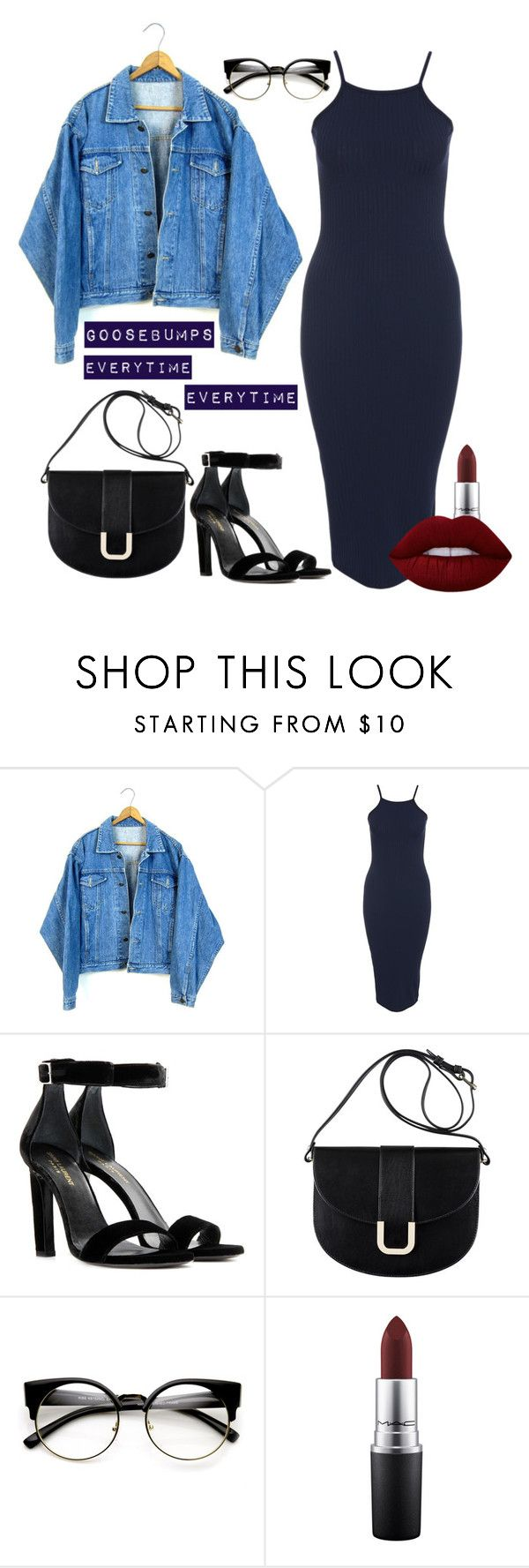 """""""Goosebumps """" by saraprifti on Polyvore featuring Club L, Yves Saint Laurent, A.P.C., MAC Cosmetics and Lime Crime"""