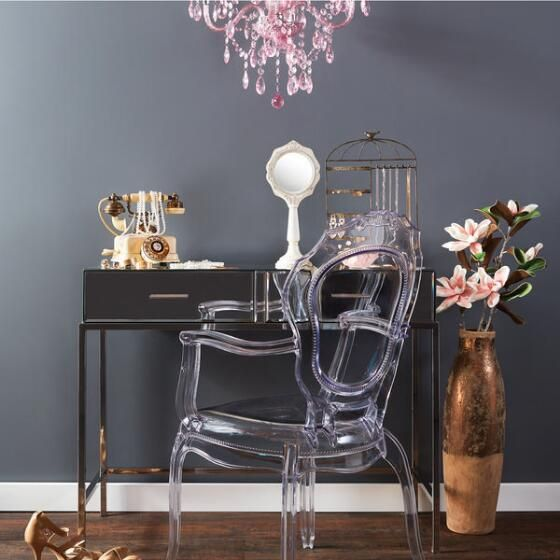 Need some colour over your work space? Try the Element Chandelier Rose