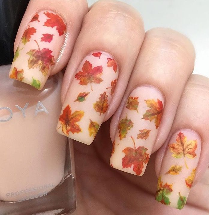 Last day for 25% OFF our entire Halloween Collection (which includes our Autumn Stencils)! Can't get enough of these beautiful Autumn  nails by @iamdeliasnails! She is using our Autumn Leaf Nail Stencils found at snailvinyls.com