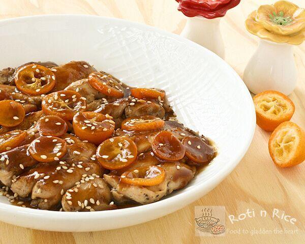 Kumquat Chicken | Food to gladden the heart at RotiNRice.com